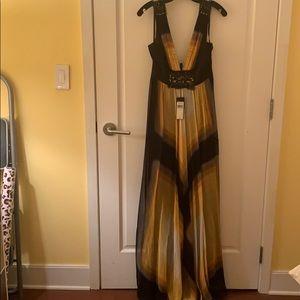 BCBG Maxazria silk gown full length
